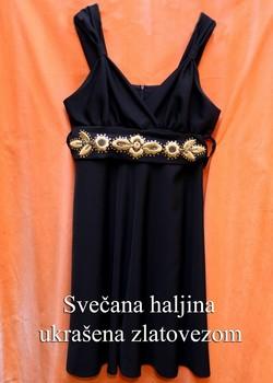 Svečana haljina ukrašena zlatovezom
