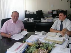 Načelnik Lovinčić u posjeti kod zamjenika župana Vlaovića