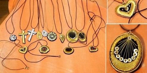 Lančići s ukrasima od zlatoveza