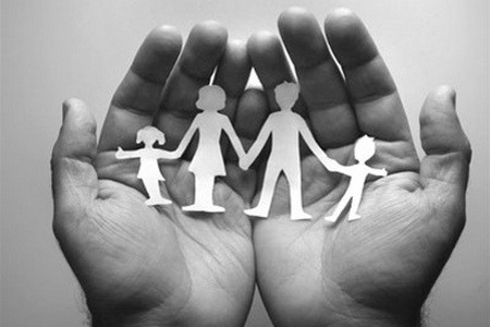 family hands