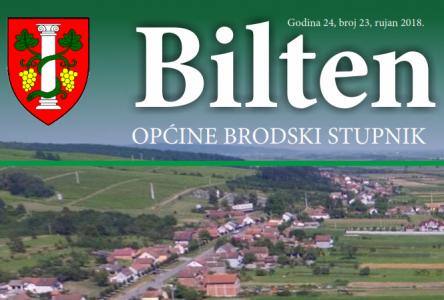 Bilten Općine Brodski Stupnik, rujan 2018.